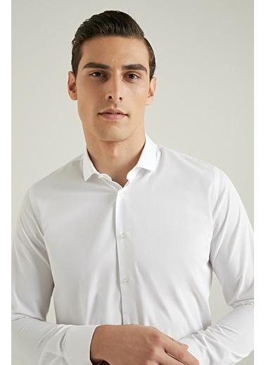 Tween Slim Fit Düz Gömlek Beyaz